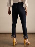 Joseph Ribkoff - Slim Leg Fringe Hem Jeans, Blue
