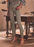 Sequin Detail Slim Leg Jeans, Green