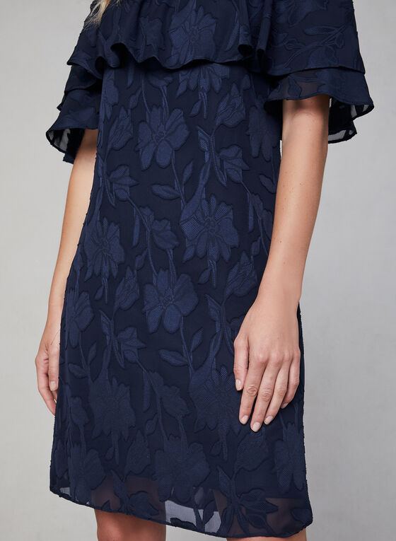 Maggy London - Embroidered Off-the-Shoulder Dress, Blue, hi-res