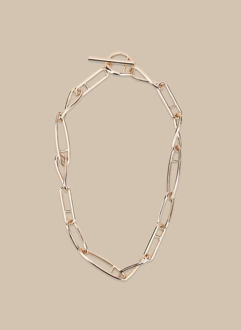 Metal Link Necklace, Gold