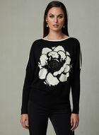 Vex - Floral Print Sweater, Black, hi-res