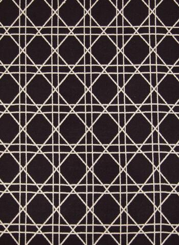 Foulard réversible à motif diamants, Noir,  accessoires, foulard, forme rectangulaire, réversible, motif, diamants, couleur unie, ourlet effiloché, automne hiver 2021, tricot