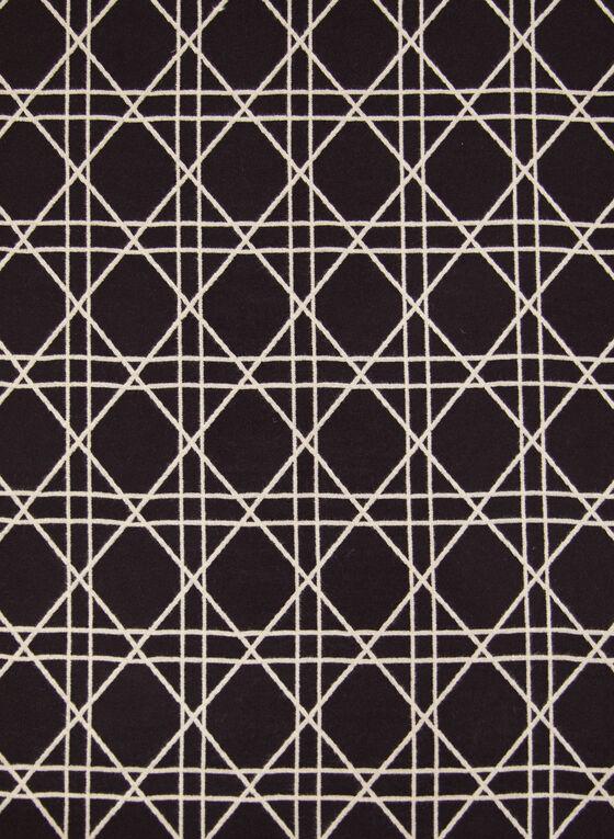 Foulard réversible à motif diamants, Noir