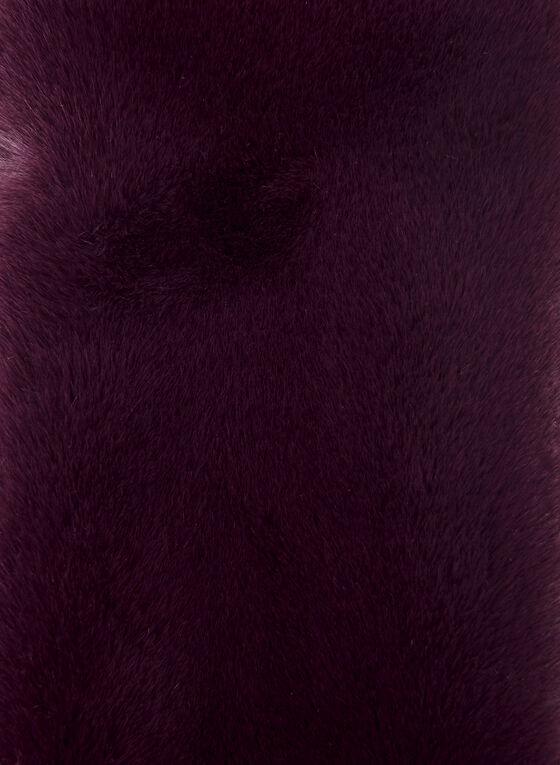 Col-écharpe en fausse fourrure, Violet