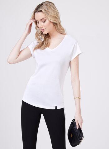 V-Neck Boyfriend T-Shirt, White, hi-res