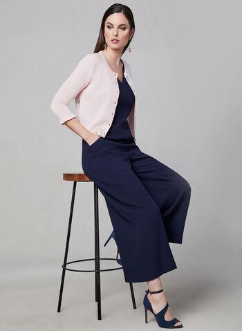 Karl Lagerfeld Paris - Lace Back Bolero, Pink, hi-res