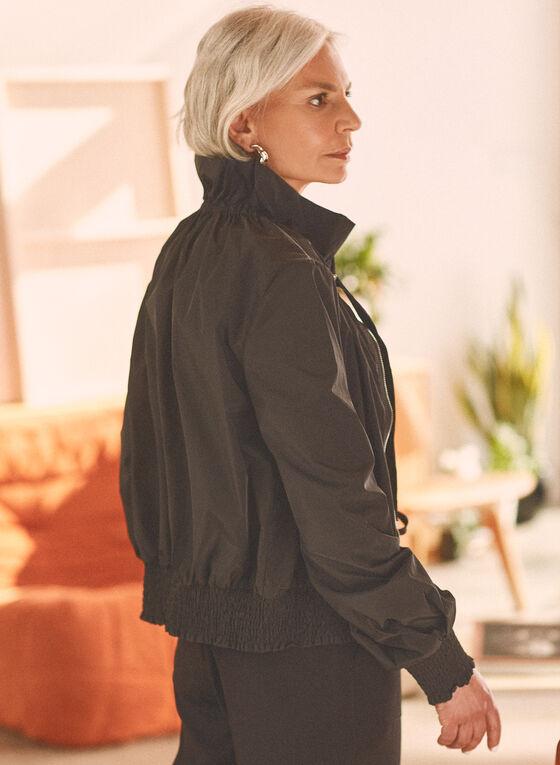 Veste décontractée en nylon, Noir