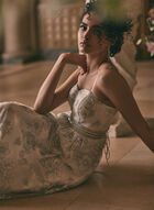 Cachet - Embellished Floral Ball Gown, Purple