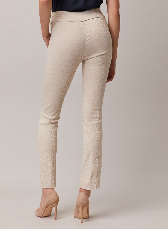 Jacquard Slim Leg Pants, Off White