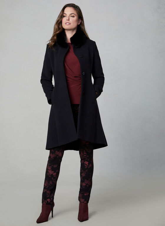 Mallia - Cashmere Wool Coat, Black