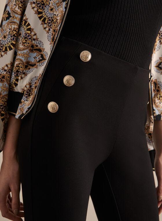 Pantalon Madison à boutons militaires, Noir, hi-res