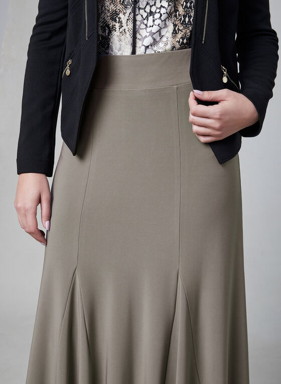 Jersey Maxi Skirt, Brown