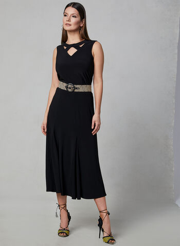 Pull-On Midi Skirt, Black, hi-res,  a-line, spring 2019