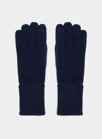 Cashmere Blend Gloves, Blue, hi-res