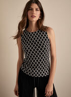 Frank Lyman - Crochet Detail Top, Black