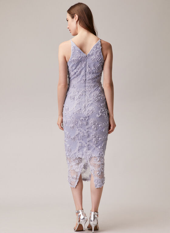 BA Nites - V-Neck Lace Dress, Blue