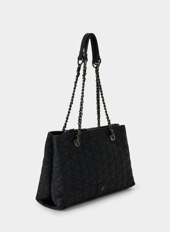 Quilted Tote Bag, Black, hi-res,  fall winter 2019, quilted, tote