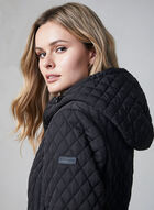 BCBGeneration - Hooded Quilted Coat, Black