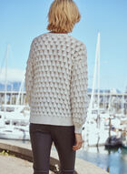 Textured Knit Sweater, Off White