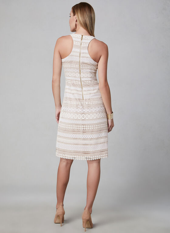 Eliza J - Robe sans manches en crochet, Blanc, hi-res