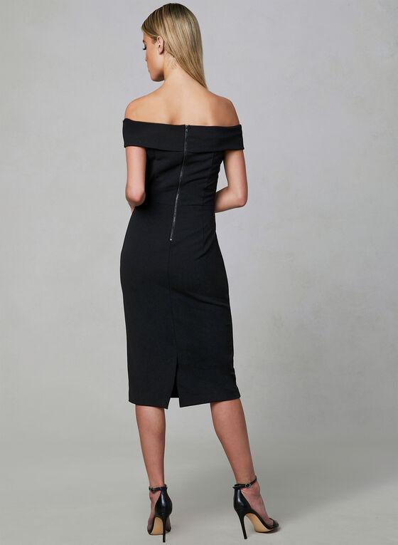 Off-the-Shoulder Dress, Black