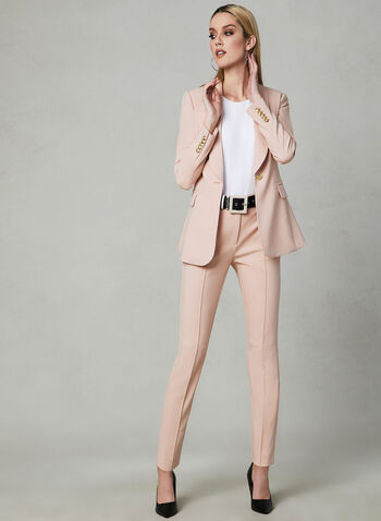 Shawl Collar Blazer, Pink, hi-res