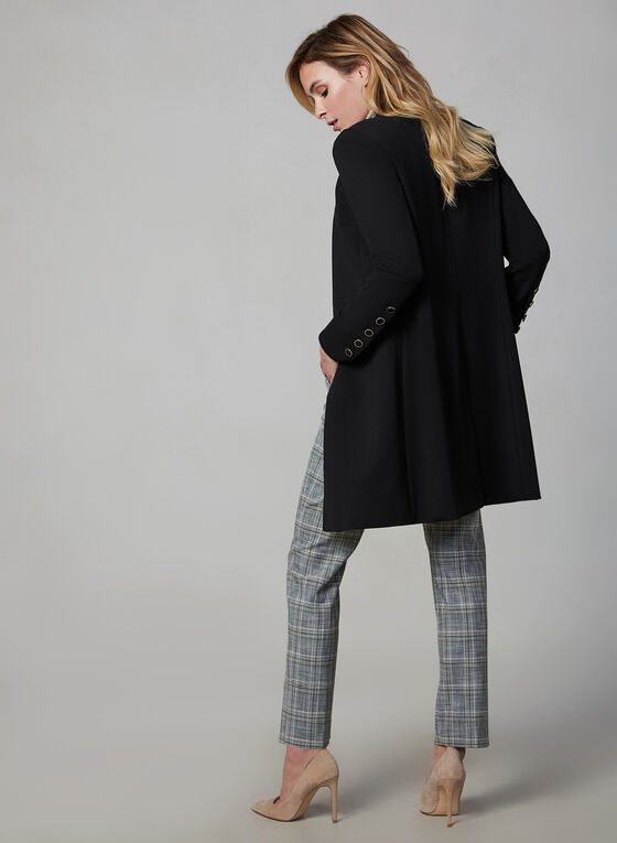 Long Redingote Jacket, Black
