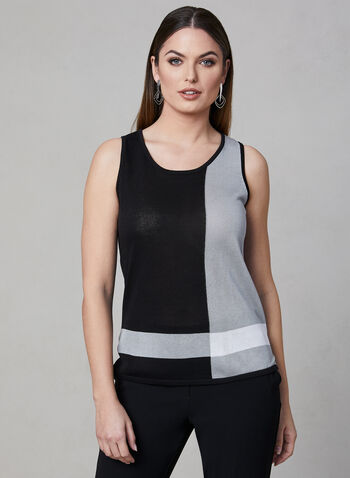Elena Wang - Sleeveless Top, Black, hi-res