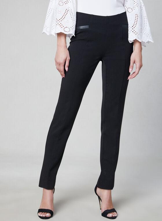 Pantalon coupe Amber à jambe étroite, Noir, hi-res