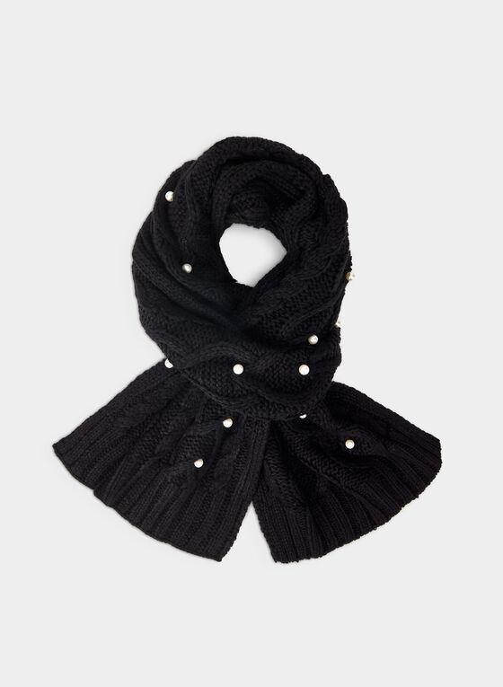 Karl Lagerfeld Paris - Écharpe en tricot torsadé, Noir