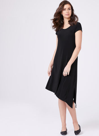 Compli K - Cap Sleeve Dress , Black, hi-res