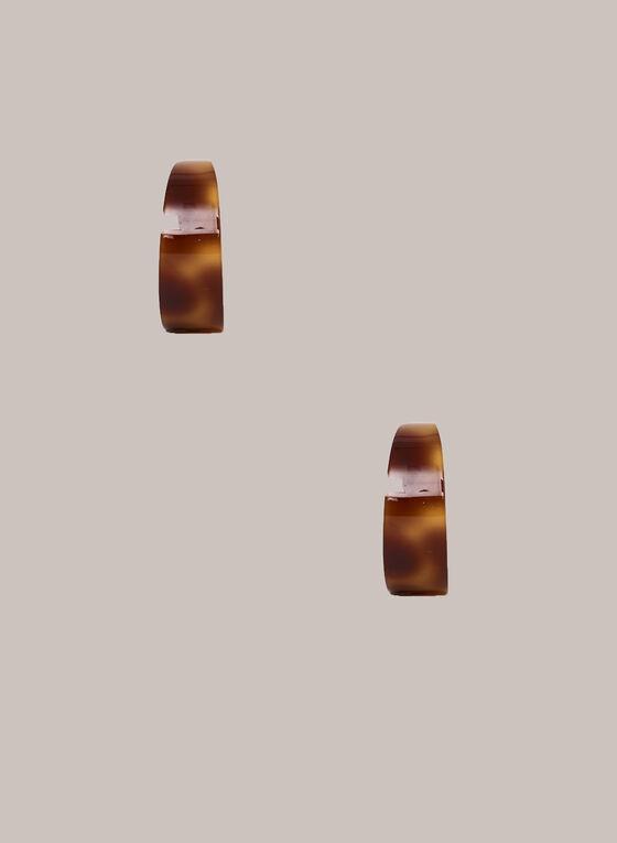 Boucles d'oreilles à anneaux tortoise, Brun