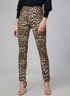 Joseph Ribkoff - Leopard Print Pants, Black