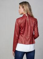 Vex - Blazer en faux cuir et détails zippés, Rouge