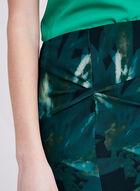Tropical Inspired Print Pencil Skirt, Blue, hi-res