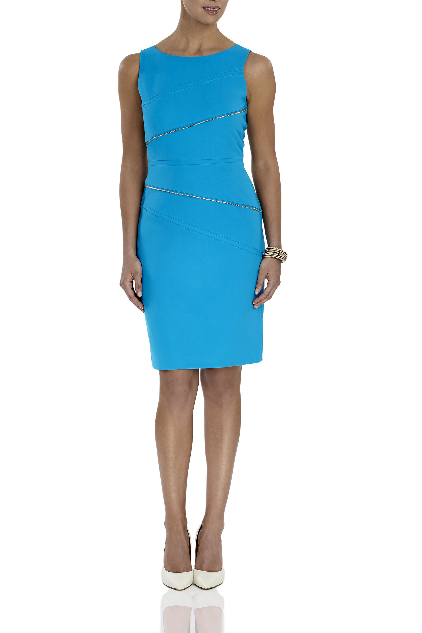 Asymmetrical Zipper Dress
