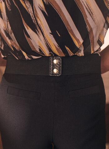 Crocodile Detail Elastic Belt, Black,  belt, elastic, ring, metallic, gold, golden, crocodile, spring summer 2021