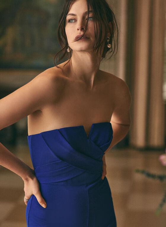 Aidan Mattox - Combinaison à épaules dénudées, Bleu