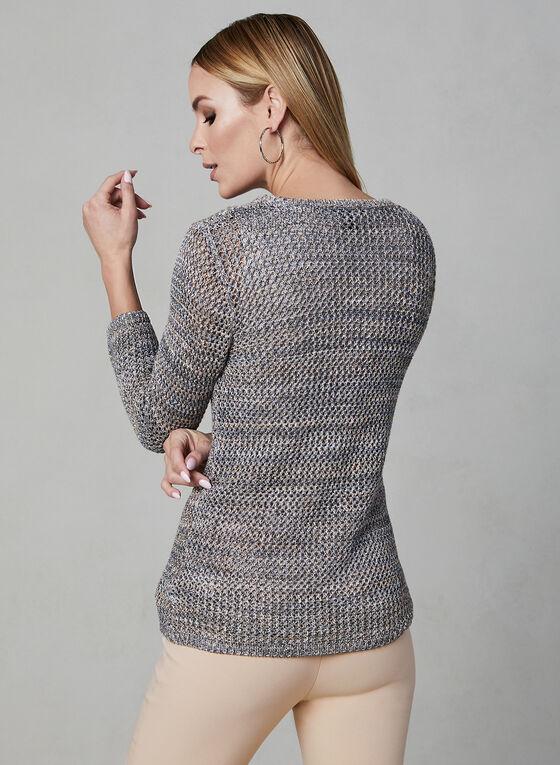 Alison Sheri - Pull en tricot crochet, Blanc cassé