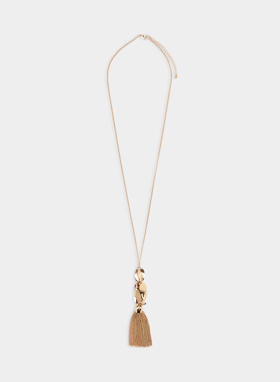 Tassel Pendant Necklace , Gold
