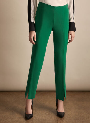 Slim Leg Amber Pants, Green,  spring summer 2020, slim leg, amber pants, ankle length, stretchy fabric