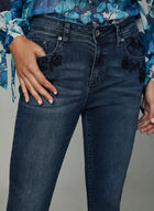 Grace in LA – Tone On Tone Embroidered Jeans, Blue, hi-res
