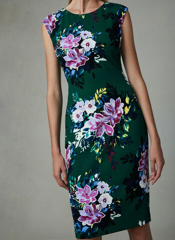 Vince Camuto - Floral Print Sheath Dress, Green, hi-res