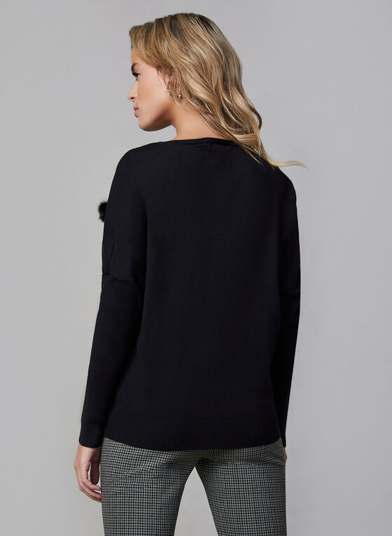 Vex - Pompom Sweater, Black