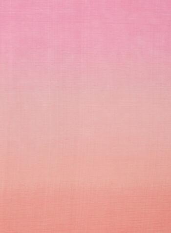 Foulard oblong à effet ombré, Rose,  foulard, oblong, léger, ombré, printemps été 2020