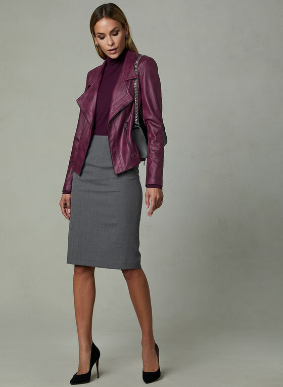 Louben - Pencil Skirt, Grey, hi-res
