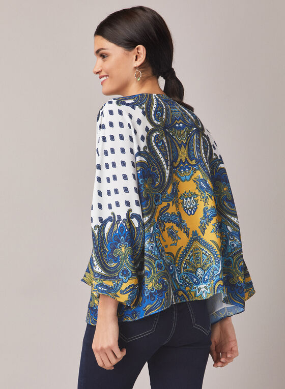 Paisley Print Open Front Top, Multi