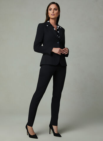 Louben - Two Button Blazer, Black, hi-res