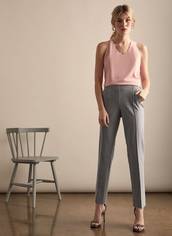 Amber High Rise Pants, Grey,  pants, amber, tailored pants, slim leg pants, ankle pants, high rise, comfortable, fall 2019, winter 2019, spring 2020