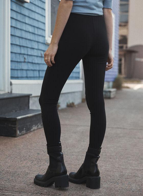 Joseph Ribkoff - Stud Detail Leggings, Black